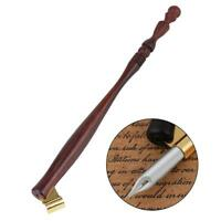 Wood English Oblique Antique Calligraphy Scrip Dip Pen Nib Copperplate Holder