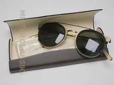 Oliver Peoples Reeves Titanium 45-22 w/ BLK OP clip-on sunglass, case and cloth