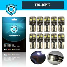 10X LED Interior Package Kit For T10 Map Dome License Plate Lights White HID