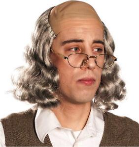 Mr. Ben Wig - Grey Benjamin Franklin Bald Hair Founding Father Inventor USA