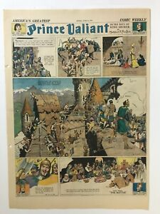 Prince Valiant Sundays, Hal Foster, 1939, Near Full Year of Sundays