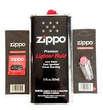 Zippo Value Pack- 12oz Can Lighter Fluid -1 Wick- 6 Flints- Combo- Bundle - NEW
