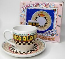 Nib Time For Tea Mary Engelbreit Cup and Saucer Collection Good Old Mom