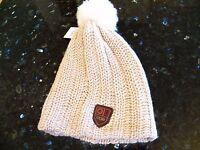New Womens UGG Cardy Stucco Warm Knit Fall Winter Sheepskin Pom Pom Beanie U1378