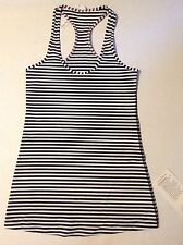 NWT Lululemon Cool Racer back Racerback CRB Black White Stripes Striped Size 6