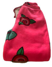 betsey Johnson Pajama  pant medium fleece pink / aqua / red