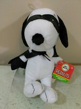 "Snoopy Plush Toy Cape & Mask 2016 Masked Marvel Small 7"" Tall Peanuts Stuffed"