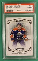 CONNOR MCDAVID PSA 10 2015 UPPER DECK CHAMPS ROOKIE ... LOW POP !!!