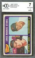 Dick Estelle / Masanori Murakami Rookie Card 1965 Topps #282 Giants BGS BCCG 7