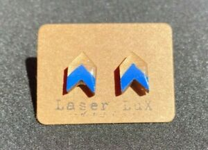 Chevron 1 Earrings Painted - 5 Color Choices - Hypoallergenic Titanium Studs