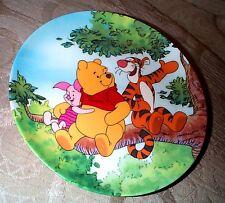 PLATE Winnie the Pooh Tree top Trio Fun in 100 Acre woods DISNEY Bradford