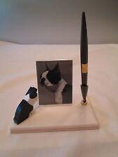 Boston Terrier DeskTop Pen Picture Photo Holder Desk Top