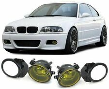 BMW E46 M SPORT & M3 + E39 M SPORT M5 YELLOW FOG LIGHTS + BRACKETS & SURROUNDS