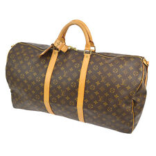AUTH LOUIS VUITTON KEEPALL 60 BANDOULIERE TRAVEL HAND BAG PURSE MONOGRAM A31295