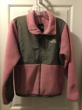The North Face Womens Pink Gray Polartec Denali Fleece Jacket Size Small Coat