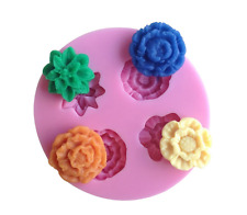 Rose Flower Shape Silicone Mould Fondant Cake Topper Modelling Tools Mold - UK