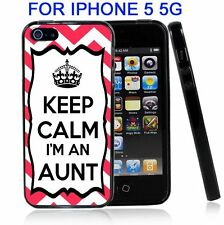 Chevron Pink Keep Calm Im An Aunt For Iphone5 5G Case Cover