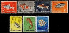 Singapore stamps - 1962 Definitive Fish low value set mounted mint seahorse