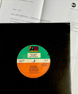 "LED ZEPPELIN-Stairway To Heaven/Whole Lotta Love- UK Promo 7"" +Letter /150 Only!"