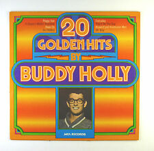 """12"""" LP-Buddy Holly - 20 GOLDEN HITS by Buddy Holly-C 1194-Slavati & cleaned"""