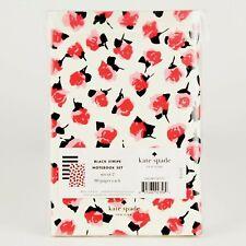 Kate Spade Notebook Set of 2 Journals 4x6 Live It Black Stripe 80 Pgs Each