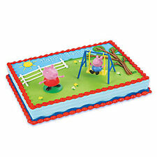 Peppa Pig and George 2 piece Cake Kit Decoration Supplies Party Favors