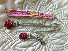 Cancer Awareness Boxing Glove Necklace & KeyChain + Hope Believe Faith Bracelet
