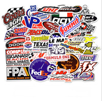 50x Lot Racing Stickers Decals Motocross Motorcycles Car Vintage Decal Sticker