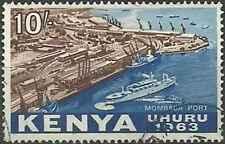 Timbre Bateaux Kenya 13 o lot 27230