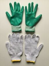 Gardena Turquoise And White With Yellow Gardening Gloves 2 Pairs (4 Total)