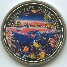 PA005 - Palau 1 Dollar 1993 KM#3 Year of Marine Life Protection Multicolor
