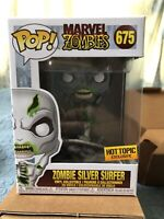 Funko POP! Marvel Zombies *ZOMBIE SILVER SURFER* #675 Hot Topic Exclusive Figure