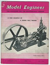 Model Engineer January 1957 Vol.116 No.2905 Percival Marshall & Co Ltd Good-