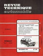 REVUE TECHNIQUE AUTOMOBILE 318 RTA 1972 RENAULT 5 L 5 TL FIAT 128 S SL FIAT 500