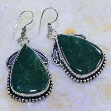 "Earrings 2"""" *Free Shipping* *New* Beautiful Blood Stone"