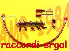 KIT TUBO FRENO SPECIALE ROSSO RACCORDI ERGAL  ROSSO  Lunghezza da 250 a 750