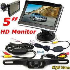 "Wireless 5"" TFT LCD Parking Rear View Monitor + 7LEDs Waterproof Backup Camera"