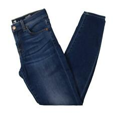 7 For All Mankind Womens Guenevere Blue Denim Mid-Rise Ankle Jeans 26 BHFO 1162