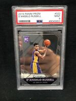 D'ANGELO RUSSELL 2015-16 PANINI PRIZM ROOKIE CARD 322 PSA 9 TIMBERWOLVES  N28