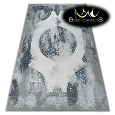 SOFT AMAZING ACRYLIC RUGS VALENCIA Very Thick blue grey HIGH QUALITY