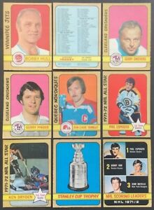 1972-73 O-Pee-Chee OPC Complete Your Set Break #209-341 MID++ to HIGH GRADE