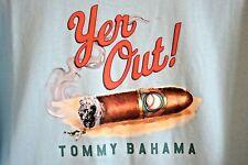 New Tommy Bahama Blue Yer Out Smoking Cigar Baseball Designer T-Shirt Size XL