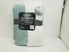 "Berkshire 50""x70"" Loftmink Reverse Sherpa Super Soft Blanket Throw"
