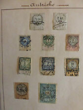 TIMBRES FISCAUX .  AUTRICHE 10 timbres anciens