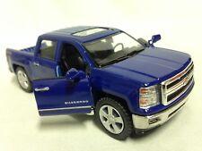 """2014 Chevrolet Silverado 4 x 4 Pickup Truck 5"""" Diecast 1:46 PullBack Kinsmart BL"""