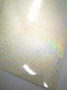 Sequin 50 Wholesale A4 Holographic Overlay Laminate Sticker Sheet