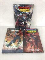 Superman/Wonder Woman 1 2 3 War Peace Power Couple Casualties DC HC Lot Sealed