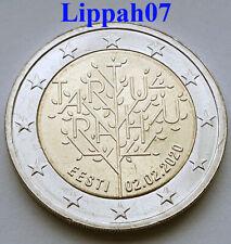 Estland speciale 2 euro 2020 Vredesverdrag van Tartu UNC