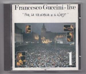 Francesco Guccini live - fra la via emila e il west -vol. 1- 1984 cd EMI