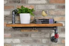 Pipe Industrial Wood/Metal Wall Shelf Storage Display Racking Shelving Unit